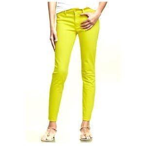 GAP Neon Legging Skimmer Size 8 Ankle Crop Jeans
